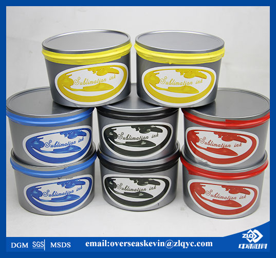Dye sublimation offset ink for lithographic press