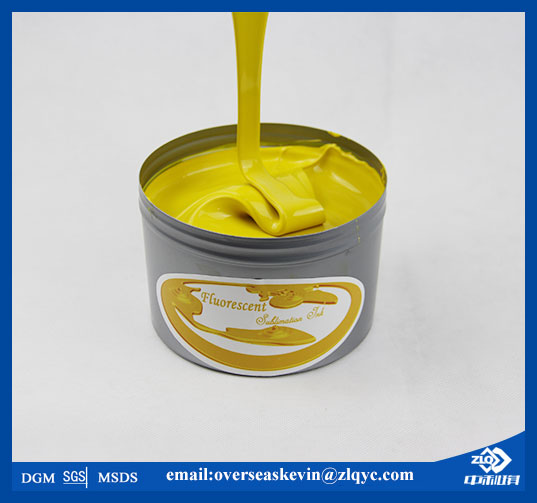 Sublimation fluorescent ink for offset printing machine