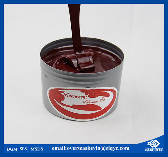 Good quality red fluorescence sublimation offset ink