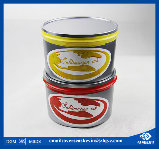 No crust sublimation offset printing ink