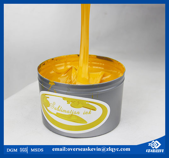 High gloss and no crust yellow offset sublimation ink